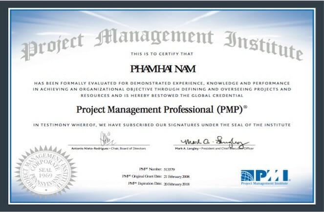 Chứng chỉ quản lý dự án PMP là gì