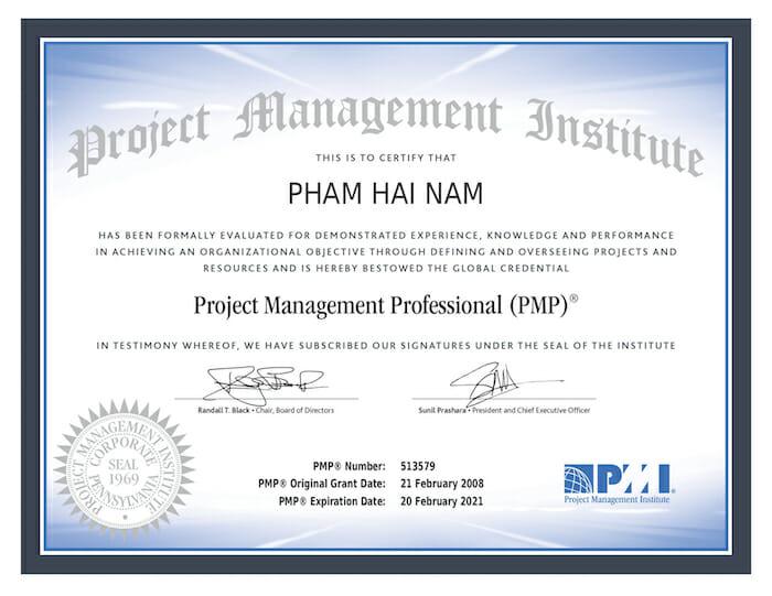 Chứng chỉ PMP là gì
